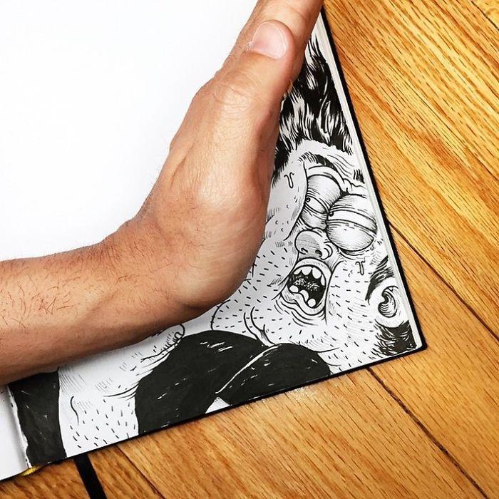 A arte de interagir com seu próprio desenho