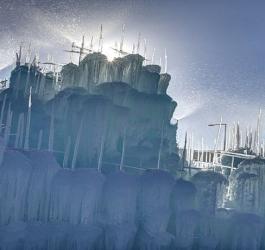 Os fascinantes castelos de gelo de Brent Christensen