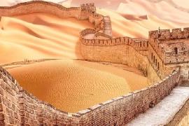 Como seriam 8 pontos turísticos do mundo em caso de uma grande seca
