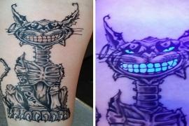 As incríveis tatuagens de luz negra