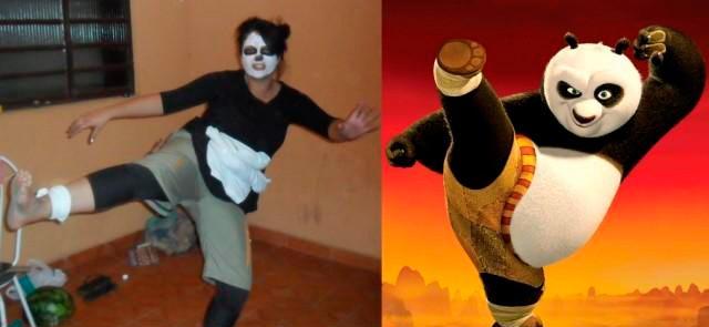 Fantasia de carnaval - kung-fu-panda