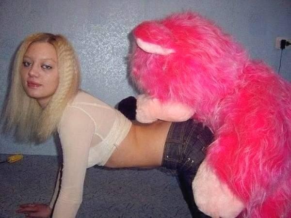 sensualizando com pelúcia