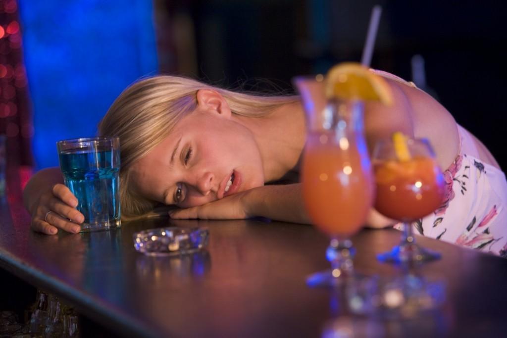 mulher bebada