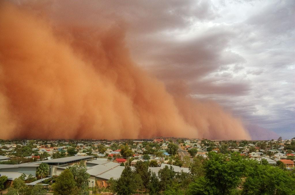 tempestade de areia fenômeno