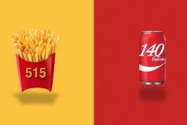 E se os logos revelassem as calorias de cada alimento?