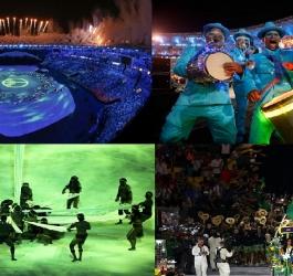 As 18 melhores imagens da abertura das Olimpíadas