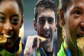 Por que os atletas mordem suas medalhas no pódio?