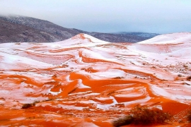 Neve no deserto do Saara: mito ou realidade?